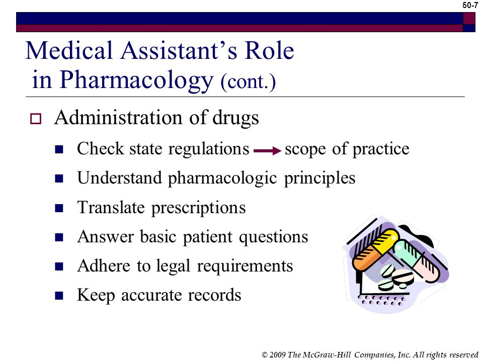 Medical Assistant's Role in Pharmacology (cont.)