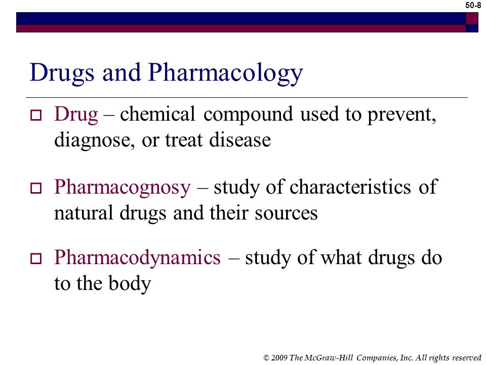 Drugs and Pharmacology