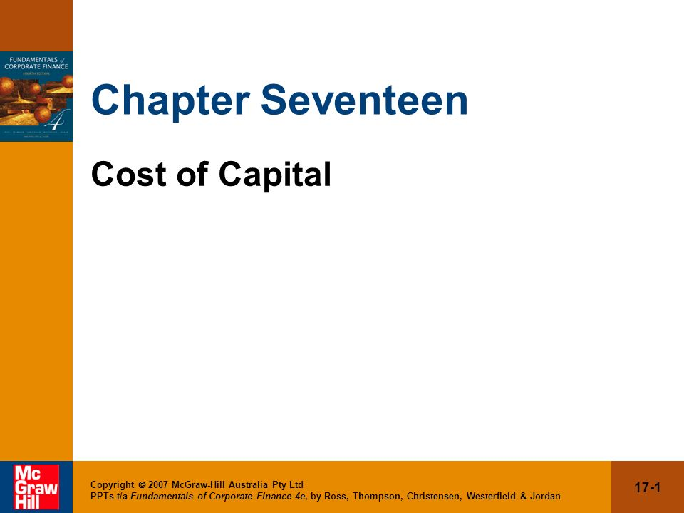 Chapter Seventeen Cost of Capital