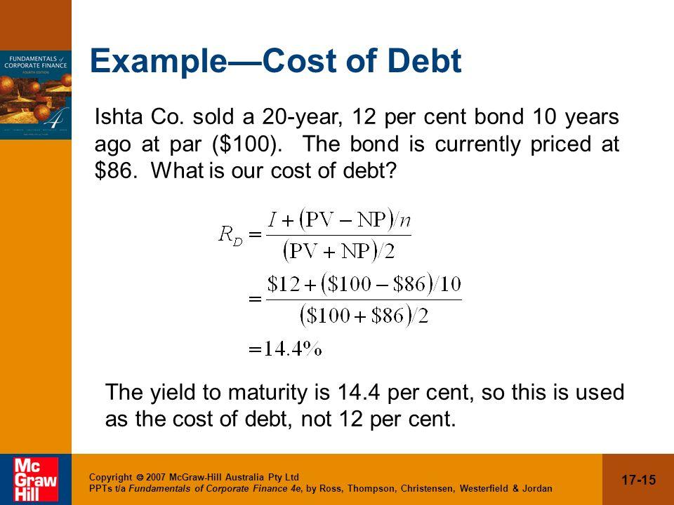 Example—Cost of Debt