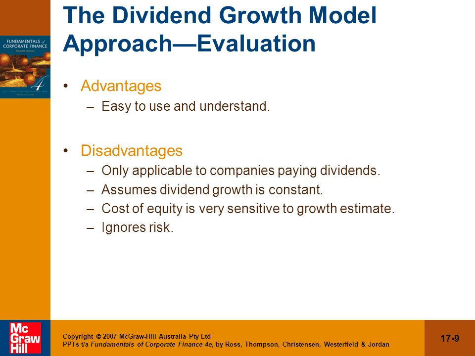 The Dividend Growth Model Approach—Evaluation