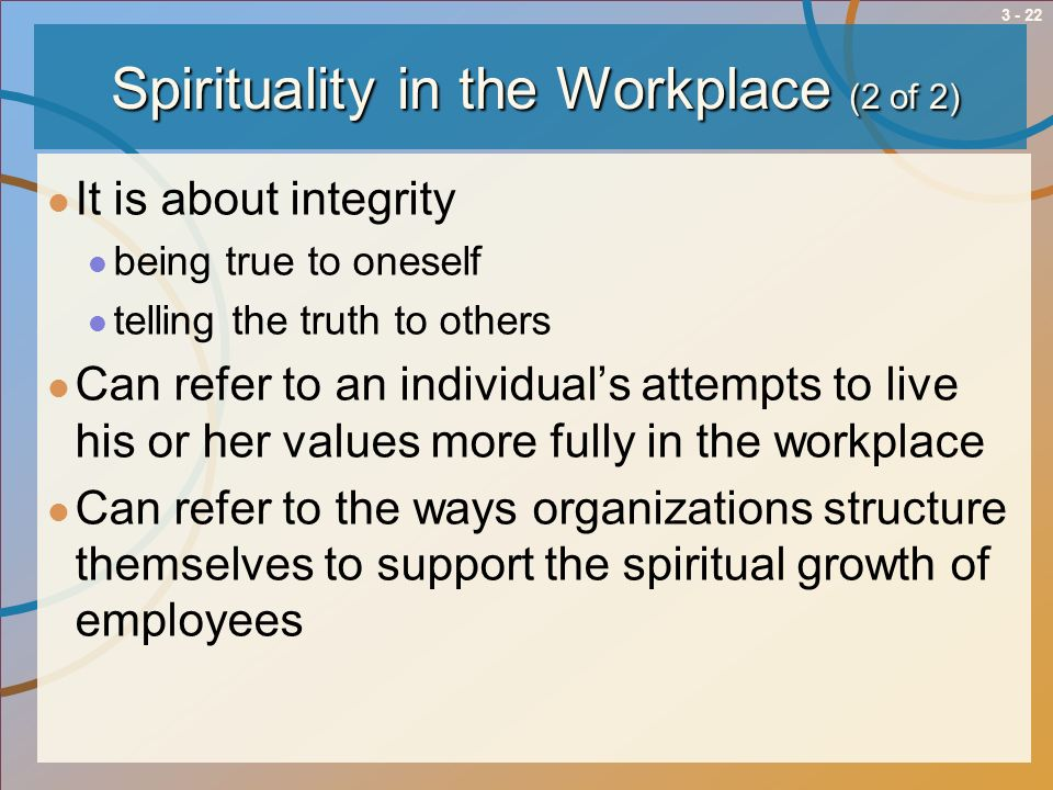 Spirituality in the Workplace (2 of 2)