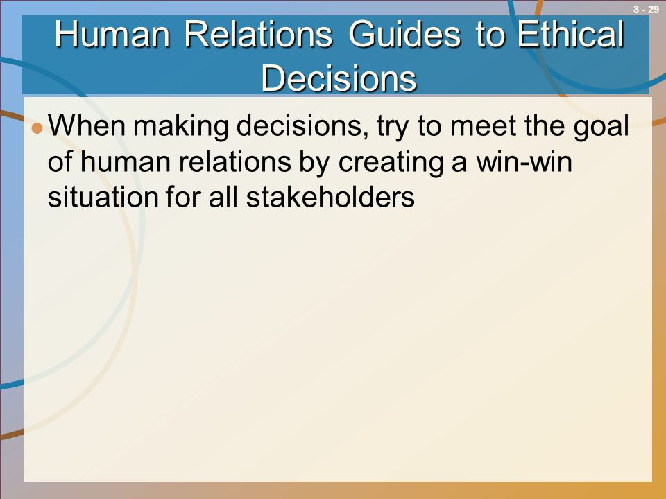 Human Relations Guides to Ethical Decisions