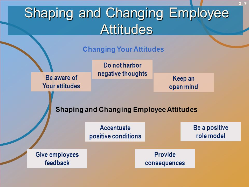 Shaping and Changing Employee Attitudes