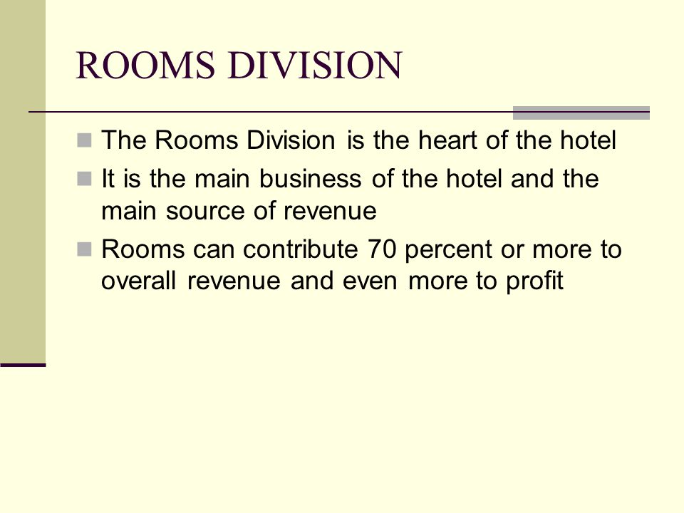 rooms division department Start studying hotel rooms division management learn vocabulary, terms, and more with flashcards, games, and other study tools.
