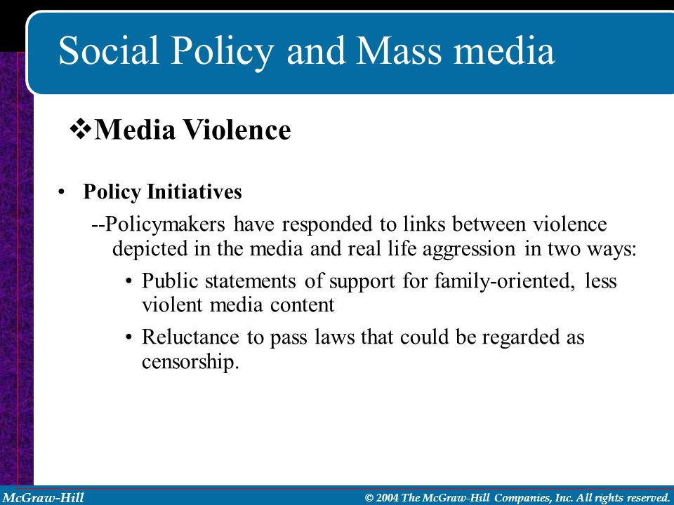 Social Policy and Mass media