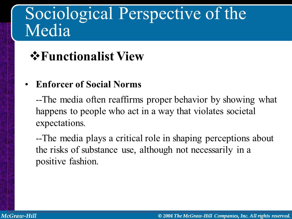 Sociological Perspective of the Media