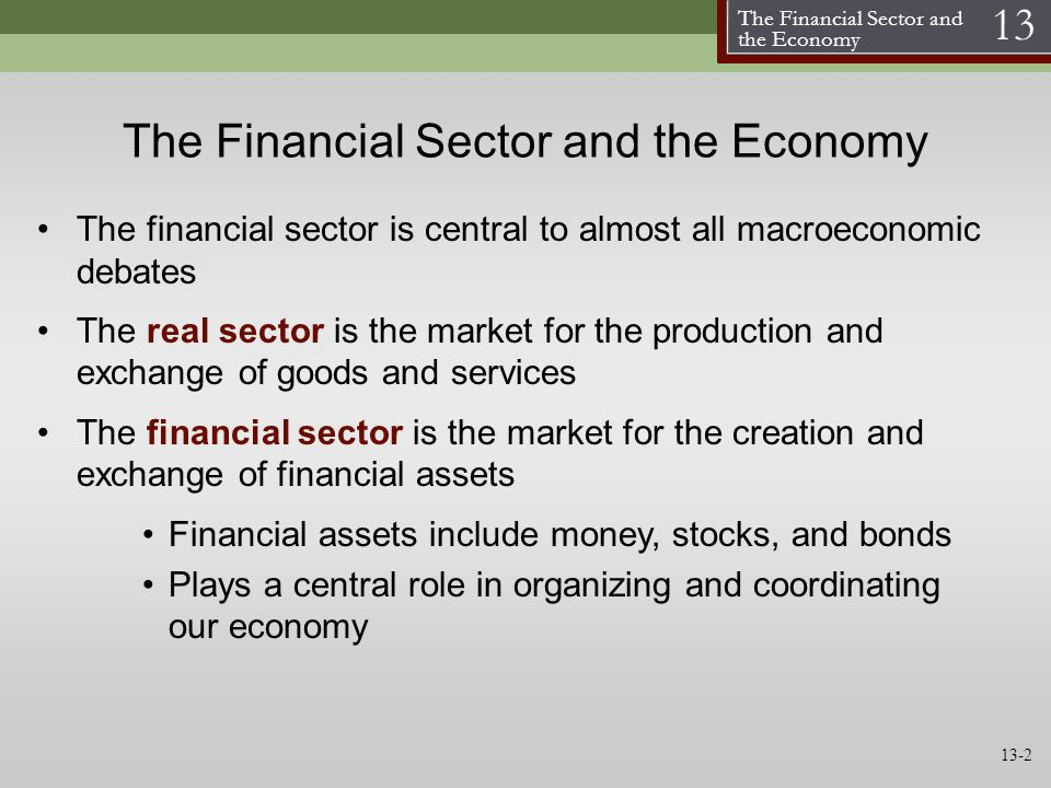 The Financial Sector and the Economy