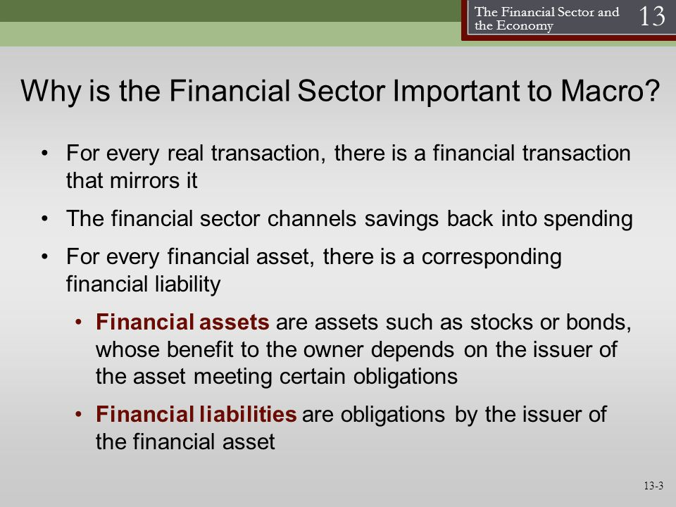 Why is the Financial Sector Important to Macro