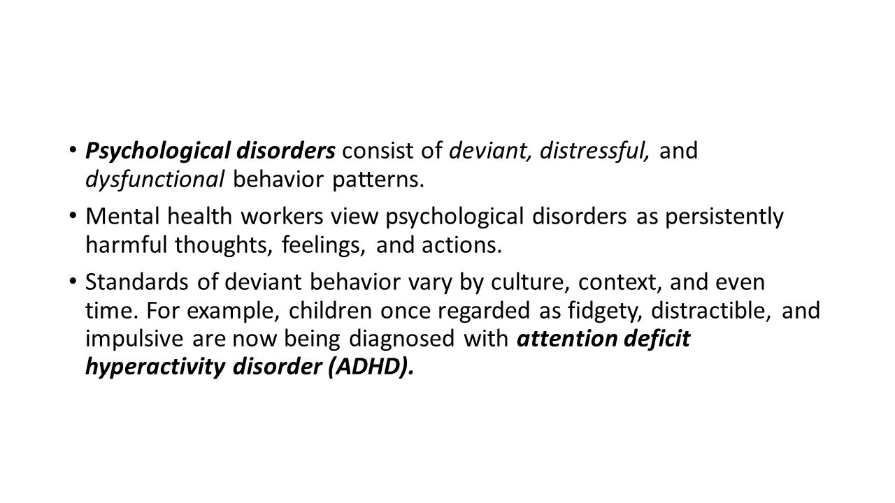attention deficit disorder abnormal psychology
