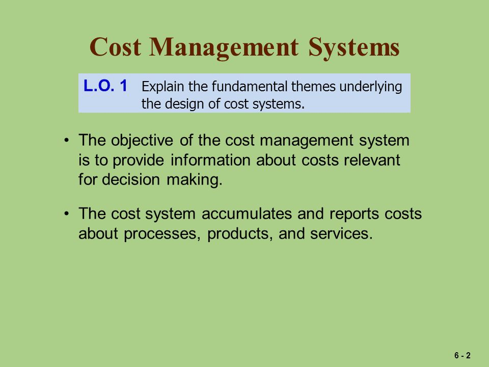 Cost Management Systems