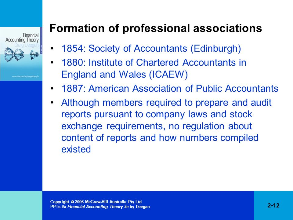 Formation of professional associations