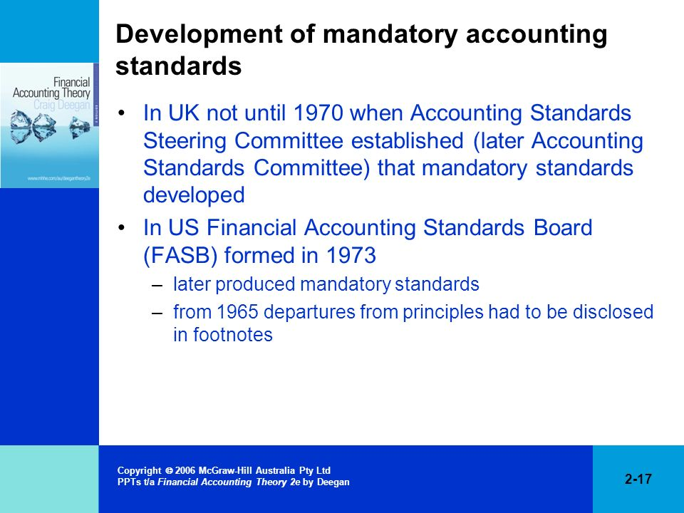 Development of mandatory accounting standards