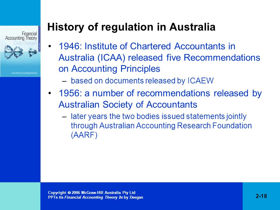 History of regulation in Australia