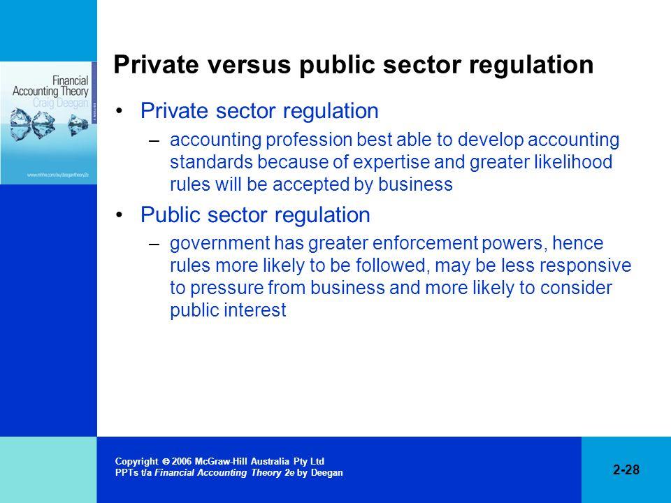 Private versus public sector regulation