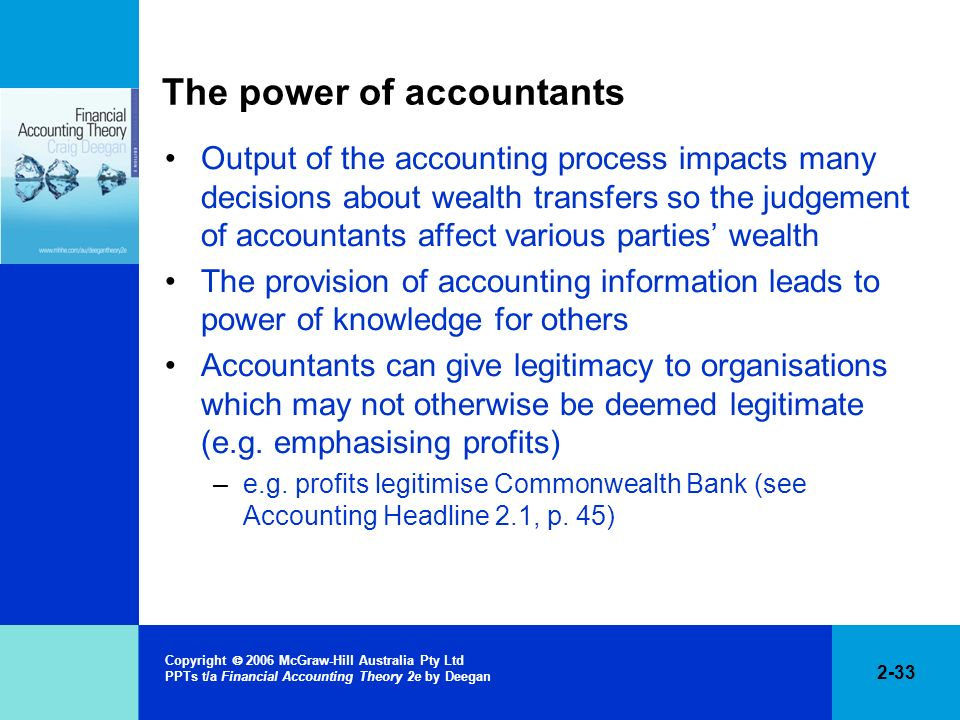 The power of accountants