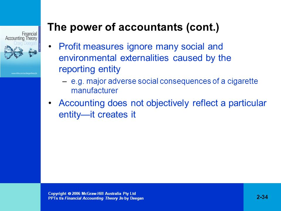 The power of accountants (cont.)