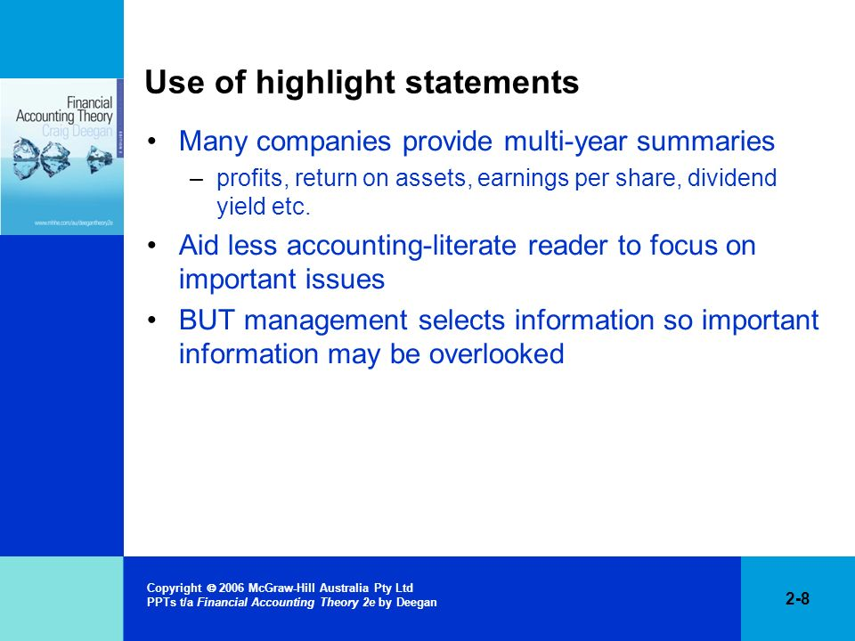 Use of highlight statements