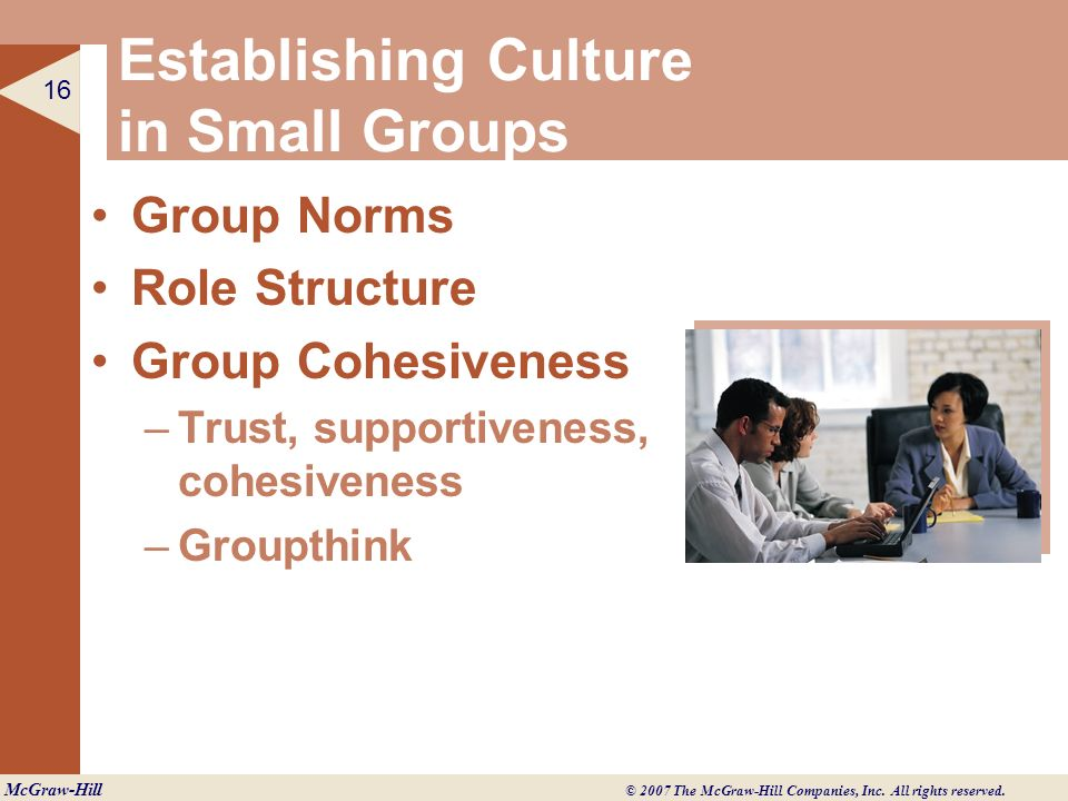 Establishing Culture in Small Groups