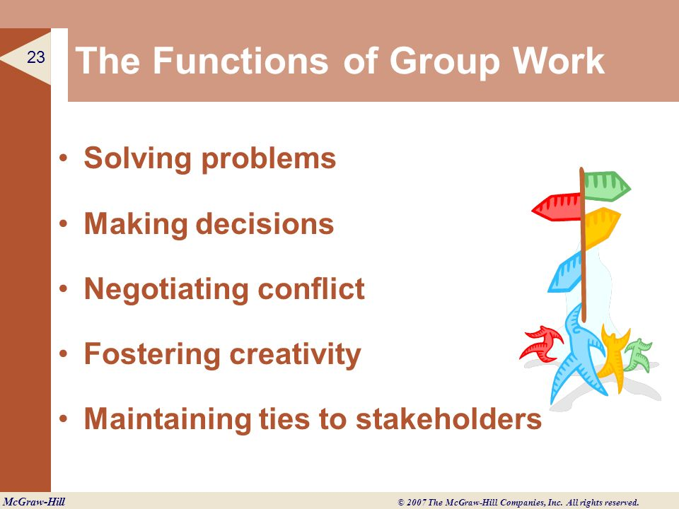 The Functions of Group Work