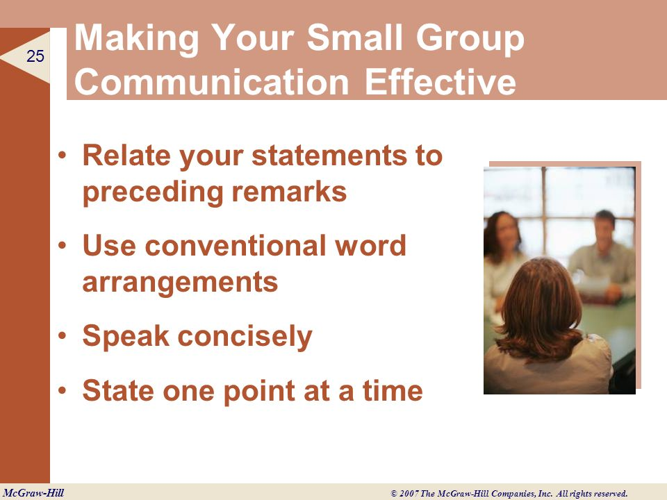 Making Your Small Group Communication Effective