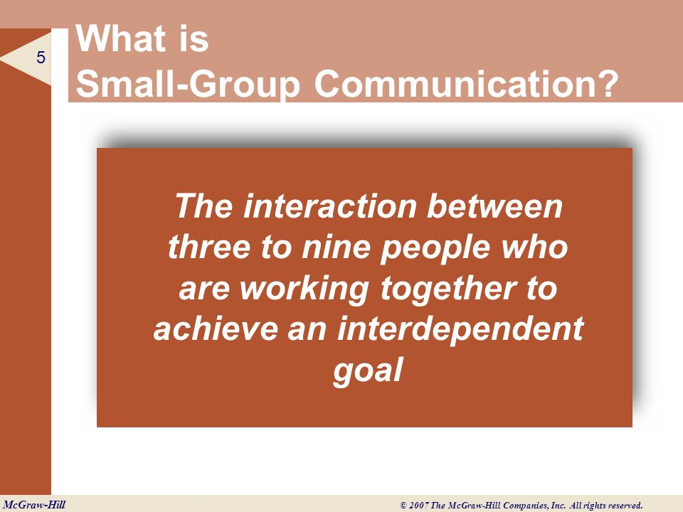 What is Small-Group Communication