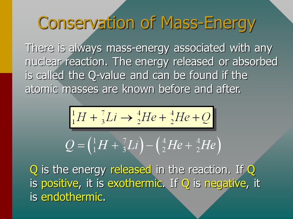 Conservation of Mass-Energy