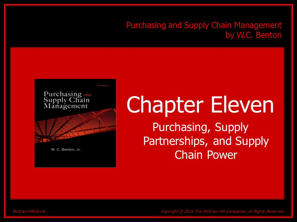 Purchasing, Supply Partnerships, and Supply Chain Power