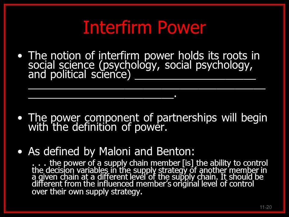 Interfirm Power