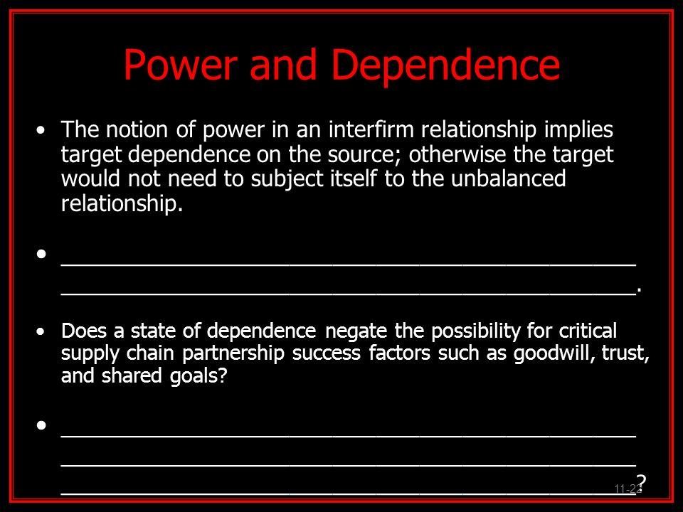 Power and Dependence