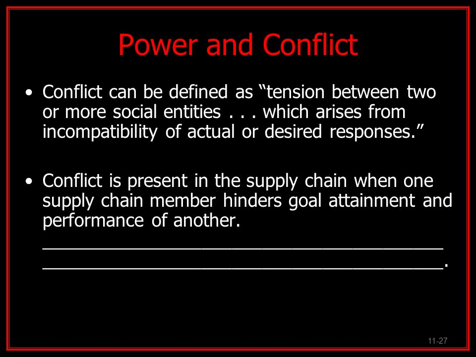 Power and Conflict