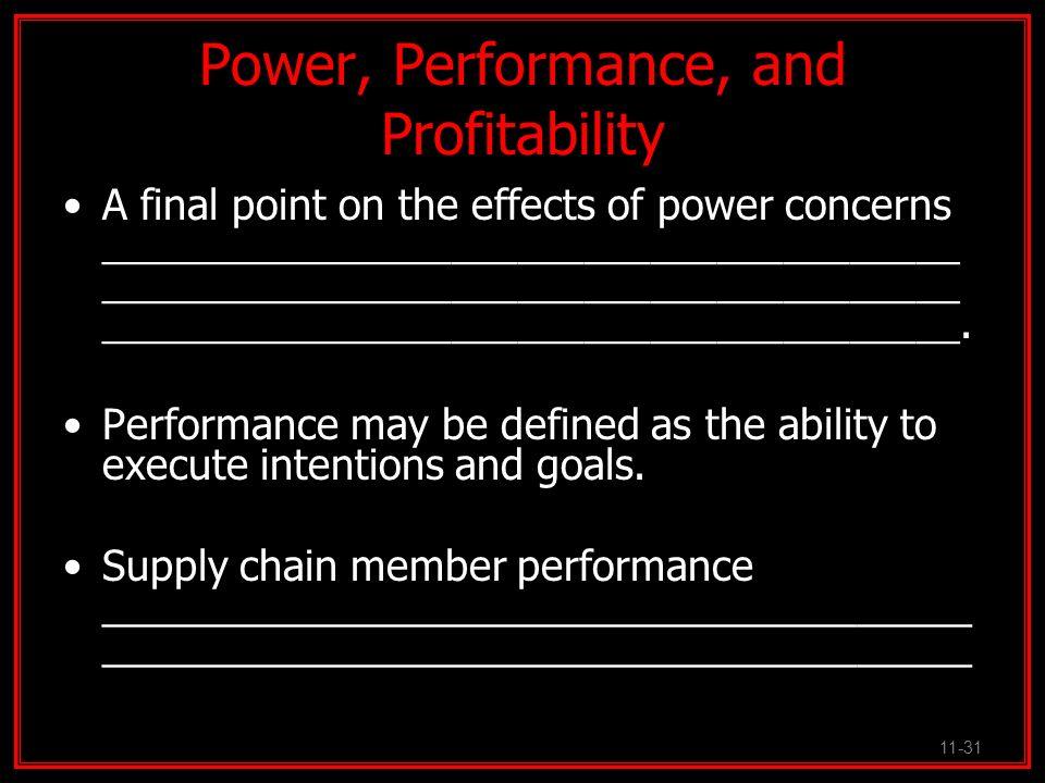 Power, Performance, and Profitability