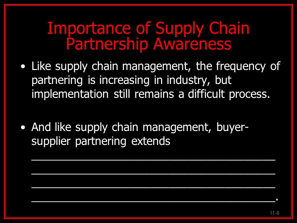 Importance of Supply Chain Partnership Awareness