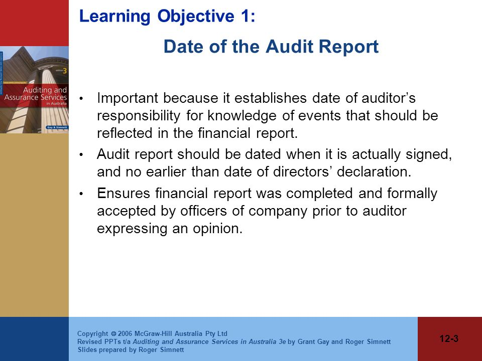 Date of the Audit Report
