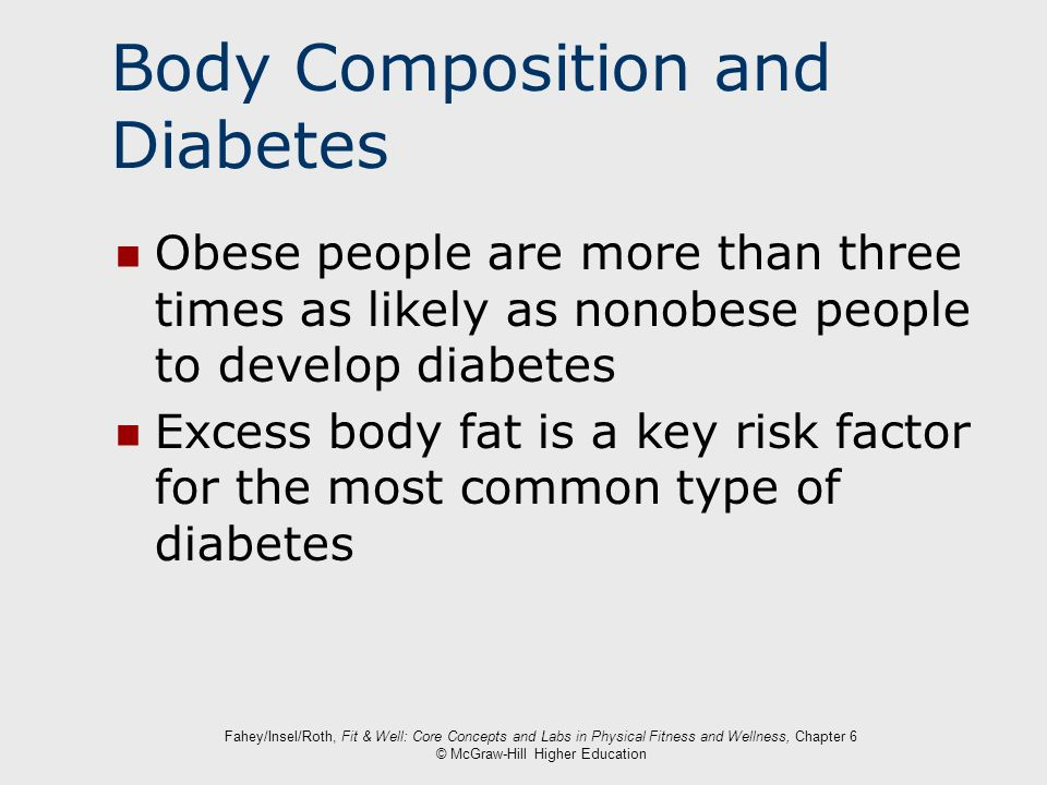 Body Composition and Diabetes