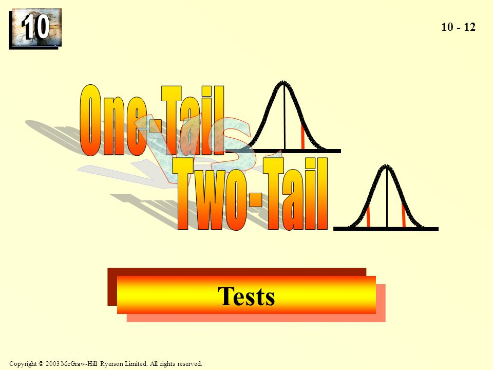 One-Tail Vs. Two-Tail Tests
