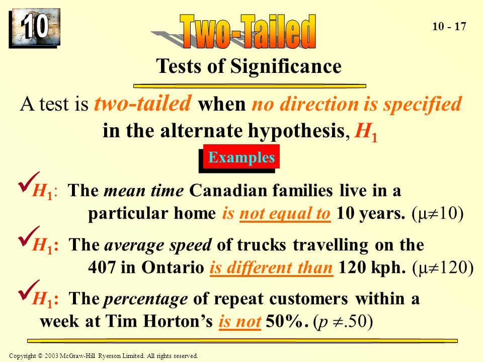 Two-Tailed Tests of Significance