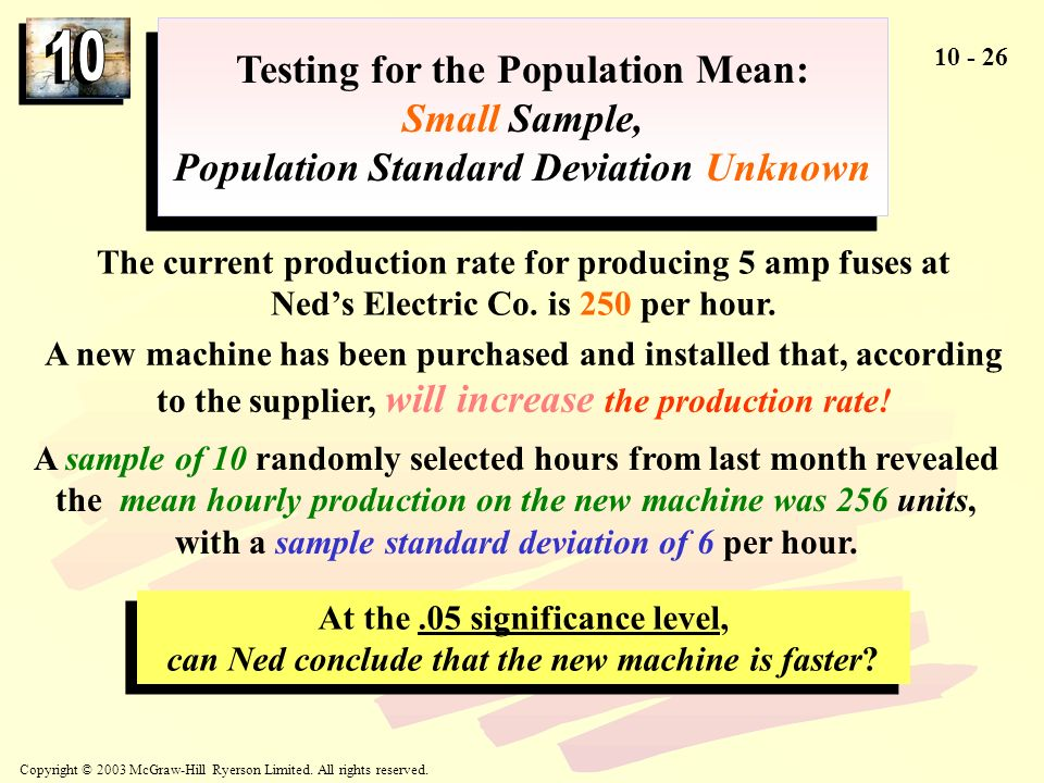 Testing for the Population Mean:
