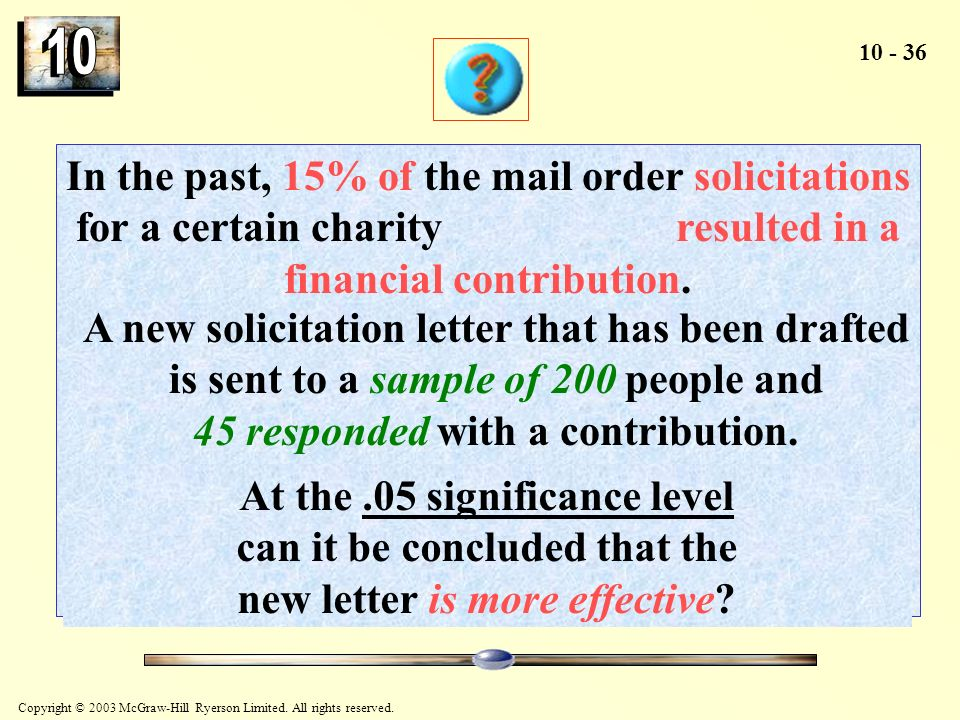 In the past, 15% of the mail order solicitations for a certain charity resulted in a financial contribution.