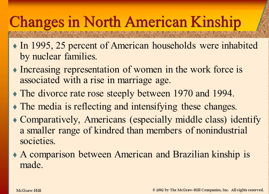 Changes in North American Kinship