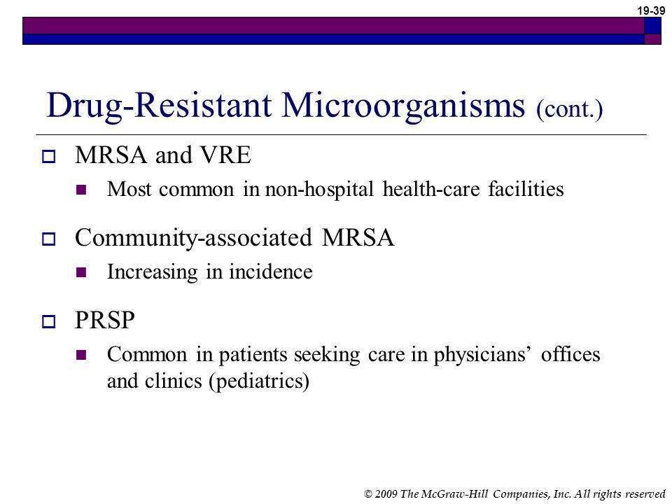 Drug-Resistant Microorganisms (cont.)