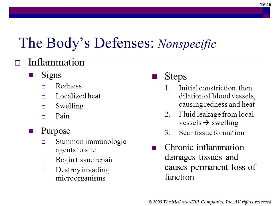The Body's Defenses: Nonspecific