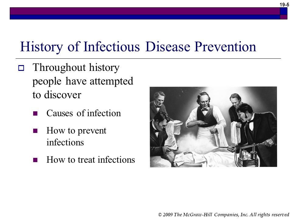 History of Infectious Disease Prevention