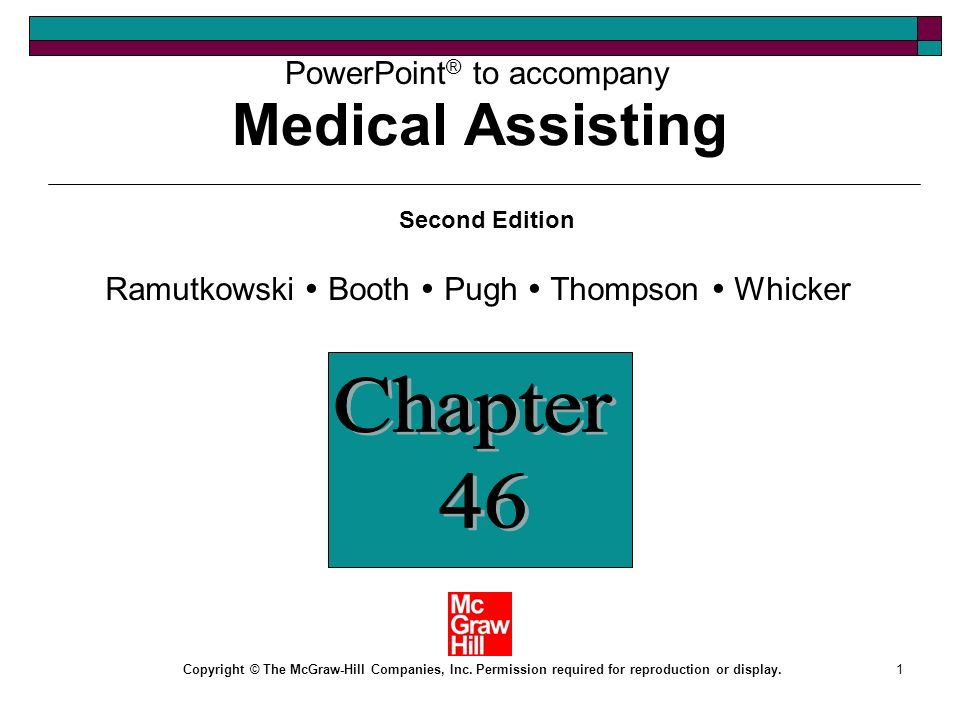 Medical Assisting Chapter 46