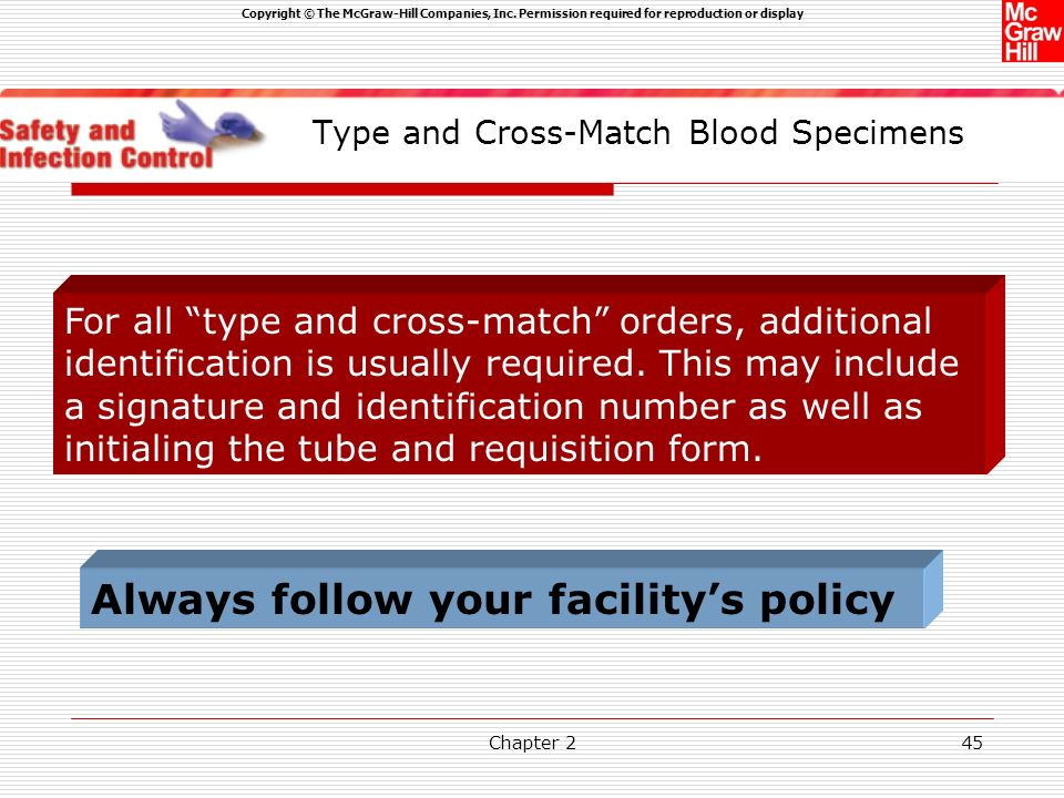 Type and Cross-Match Blood Specimens