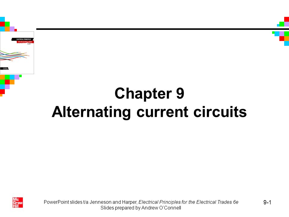 Chapter 9 Alternating current circuits