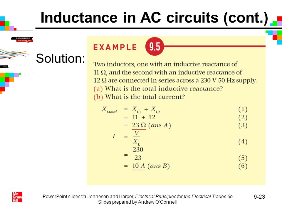 Inductance in AC circuits (cont.)