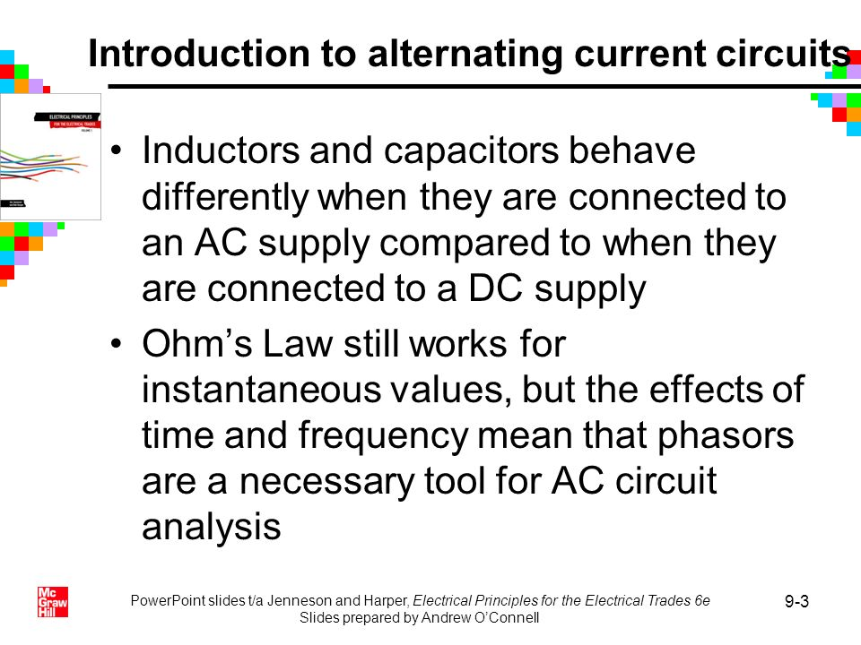 Introduction to alternating current circuits