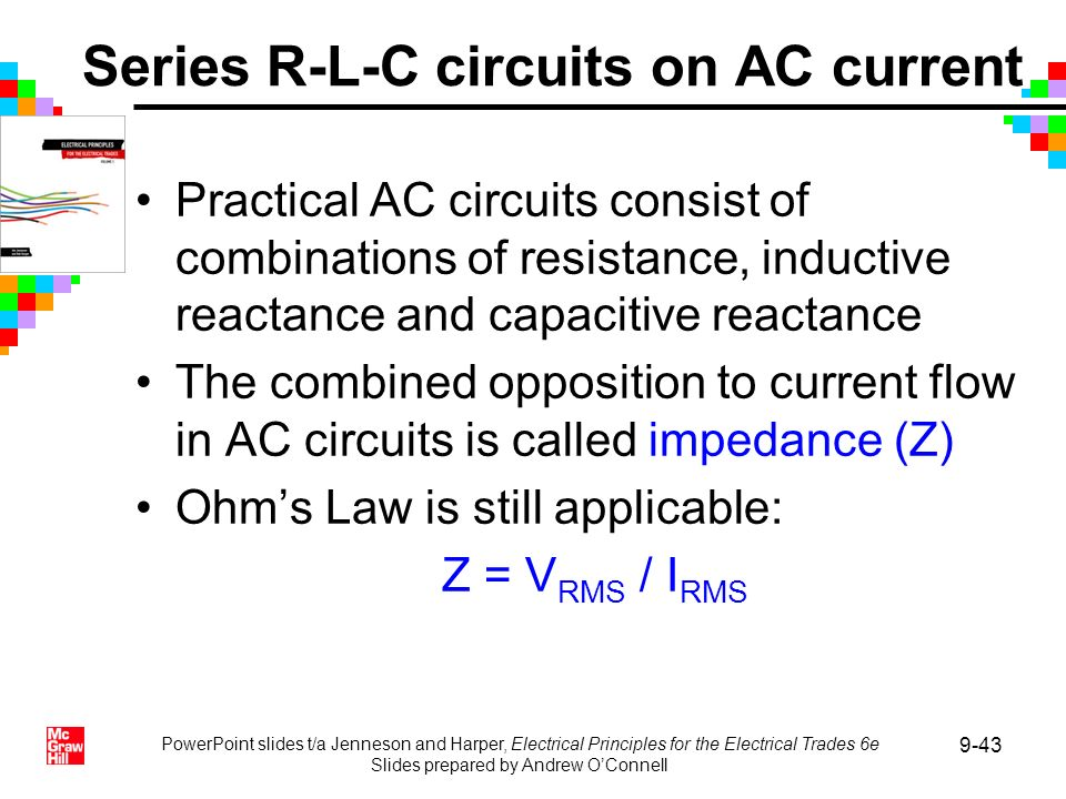 Series R-L-C circuits on AC current