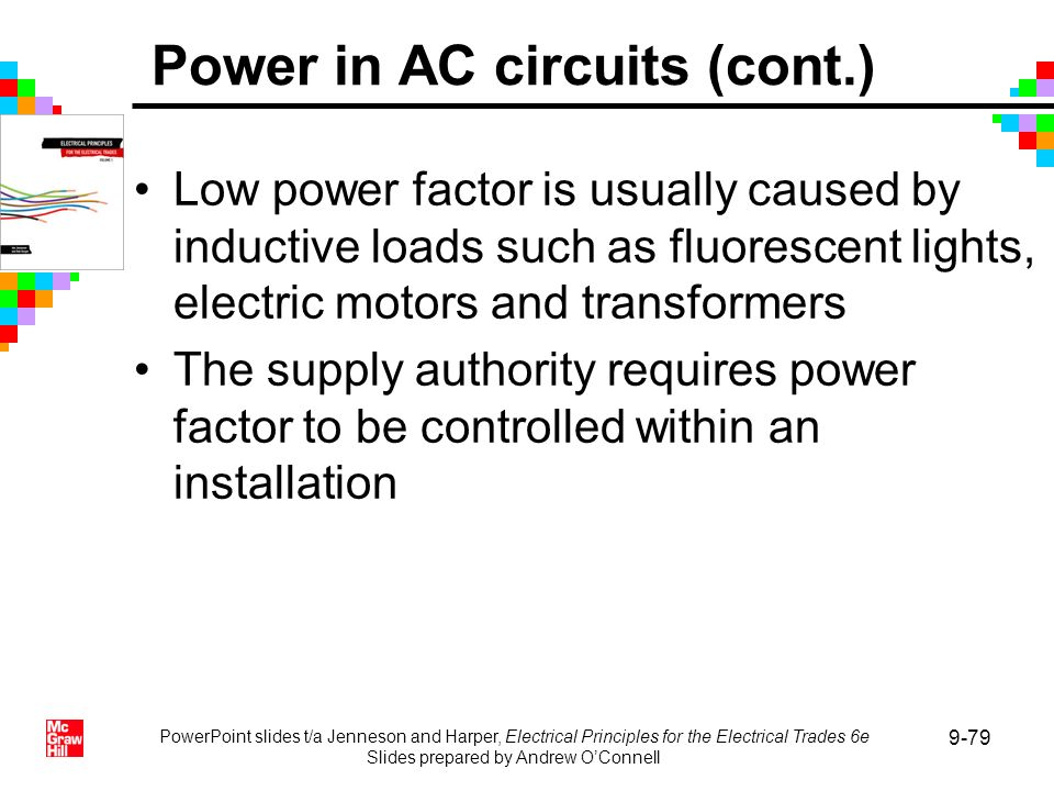 Power in AC circuits (cont.)